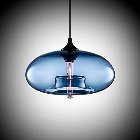 Cozyle Moderne Design-Anhänger-hängendes Licht Glas Schatten Blau