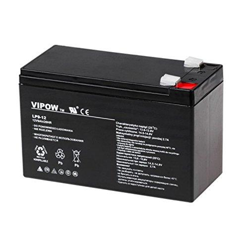 Vipow Gelakku AGM Gelakkumulator Ersatzbatterie Gel Akku Batterie (12V 9Ah)