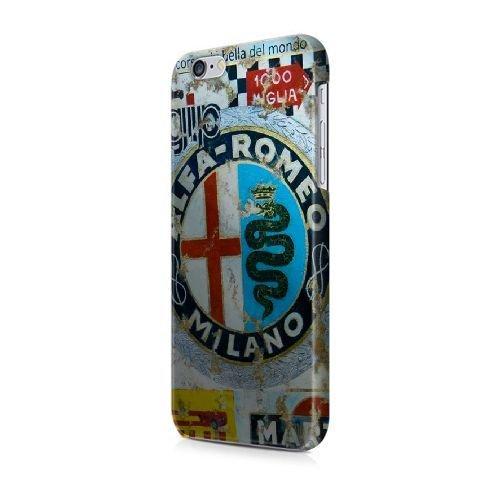 """COUTUM iPhone 6/6S (4.7"""" Version) Coque [GJJFHAGJ67249][AUDI LOGO THÈME] Plastique dur Snap-On 3D Coque pour iPhone 6/6S (4.7"""" Version) ALFA ROMEO - 027"""