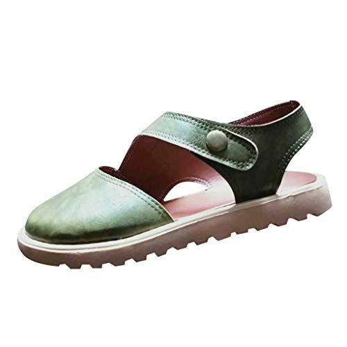 LANSKRLSP Sandali Donna Eleganti Spiaggia Casuale Sandals Estivi Confortevoli Tacco Basso Piatto Scarpe Estate da Estive Piatti Pantofole Stile Boemo