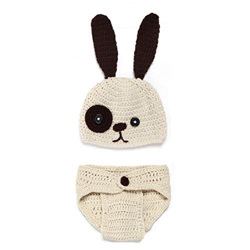 Kinder Baby Strick Mütze Fotoshooting Hund Neugeborene Muster Design Hut Kostüm Hüte