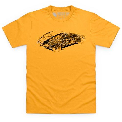 Jag E Type Cutaway T-Shirt, Herren Gelb