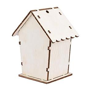 YUYOUG DIY Nest Dox Nest House Bird House Bird Box Wooden Box Kits