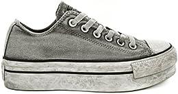 converse platform paillettes grigie
