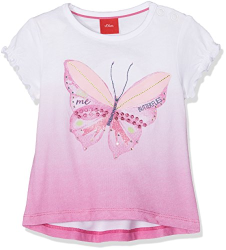 s.Oliver Baby-Mädchen T-Shirt Kurzarm Rosa - Pink