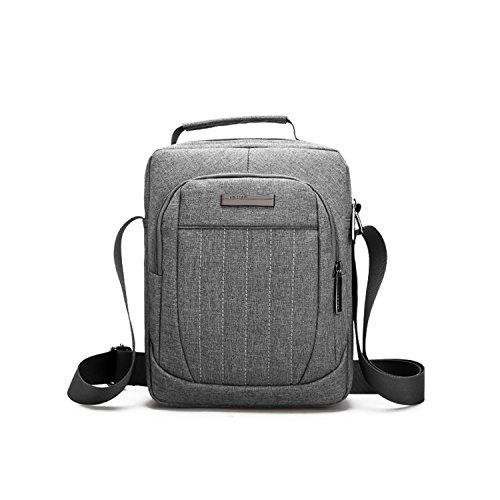 Outreo Kuriertasche Vintage Umhängetasche Sport Schultertasche Herren Messenger Bag Herrentaschen Retro Taschen für Tablet Grau