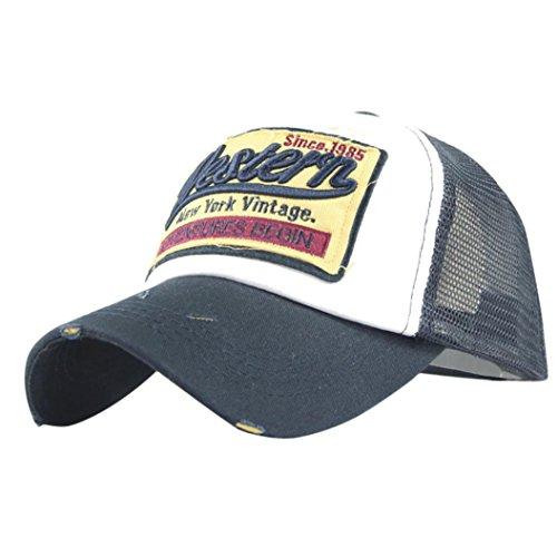 Vintage Cap (Unisex Baseball Cap FORH Mode Sommer Kappe Mesh Hüte Super Coole Hip Hop caps Chic Besticken Brief kappe Sommer Sport Mütze Schirmmütze (Marine))