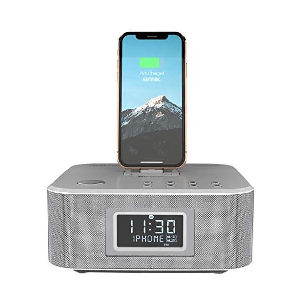 new concept ccfb3 be7c0 AZATOM Homehub Clock Radio Alarm Lightning Docking station 30W ...