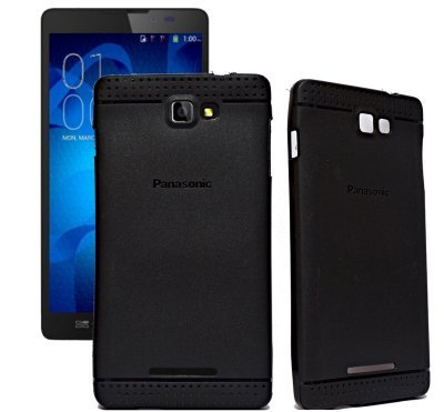ECellStreet Exclusive Dotted Matte Finish Soft Back Case Cover Back Cover For Panasonic P81 -Black