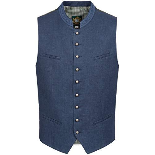 Hammerschmid Herren Trachten-Mode Trachtenweste Baltes, Größe:46, Farbe:Blau -