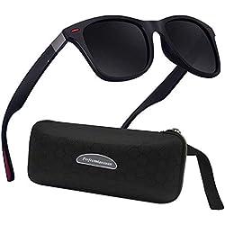 Lunettes de Soleil polarisées Homme Femme/Sports Eyewear réfléchissantes avec Sports de Plein air d'été Conduite pêche Alpinisme Lunettes de Soleil Hommes (b1lack)
