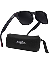 Lunettes de Soleil polarisées Homme Femme Sports Eyewear réfléchissantes  avec Sports de Plein air d 05e61309b3e4