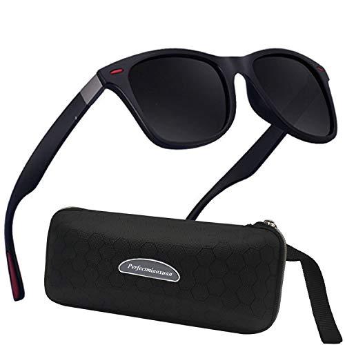 Polarisierte Sonnenbrille Herren Damen Luxus Retro Sonnenbrille Männlich/Sport im Freien Golf Radfahren Angeln Wandern Eyewear Sonnenbrille (b1lack)