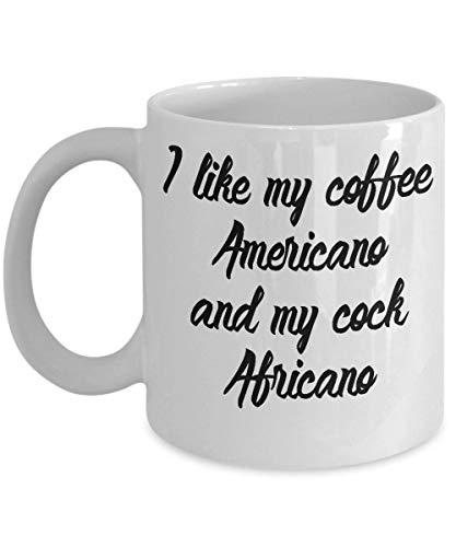 Alicert5II Ich mag Meinen Kaffee Americano und Meinen Hahn africano lustige Kaffeetasse Americana Hahn