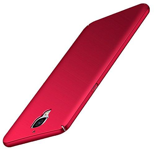 OnePlus 3 / 3T Hülle GOGODOG Vollständige Abdeckung Ultra dünn Matte Anti-Rutsch Kratzen Beständig für One Plus 3 / 3T (Rot)