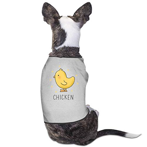 Chicken Baby Kostüm - Jiaojiaozhe Cute Chicken Pet Service Pet Clothing Funny Dog Cat Costume Tshirt Gray