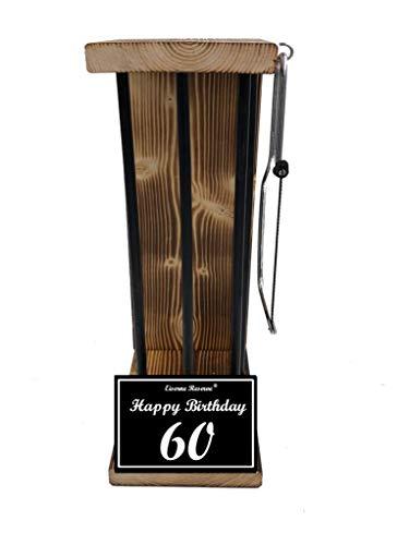 (* Happy Birthday 60 Geburtstag - Eiserne Reserve ® Black Edition - Rohling zum SELBST BEFÜLLEN - Größe L - incl. Säge zum zersägen der Stäbe - Die ausgefallene lustige witzige Geschenkidee)