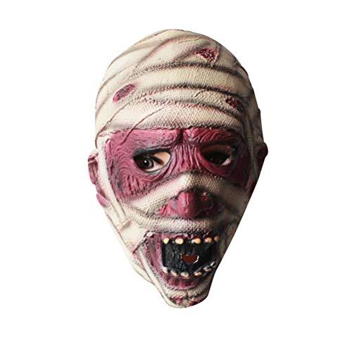 BESTOYARD Halloween Mumie Maske Cosplay Kostüm für Erwachsene (Kostüm Maske Mumie)