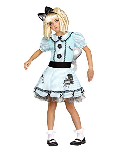 Horror-Shop Living Doll Aufziehpuppe Kostüm für Mädchen - Living Doll Kostüm