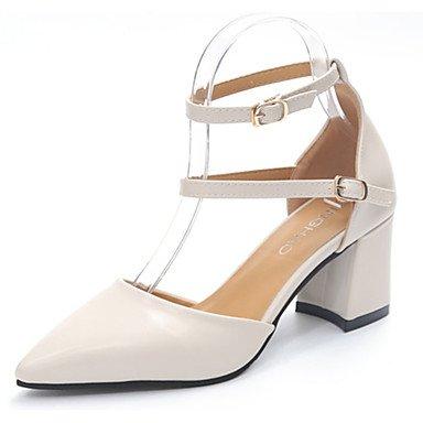 RTRY Donna Sandali Suole Marylight Pu Estate Abbigliamento Casual Walking Maria Luce Suole Fibbia Tacco Piatto Nero Bianco Beige Piatto Us6 / Eu36 / Uk4 / Cn36 US5.5 / EU36 / UK3.5 / CN35