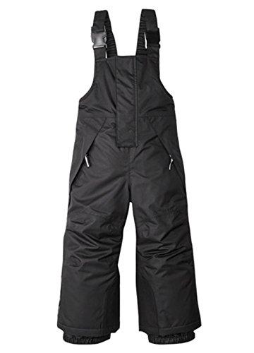 OUO Kinder Skihose Brustschutz Wasserabweisend Hose Jungen Mädchen Schneehose Schwarz 86-92