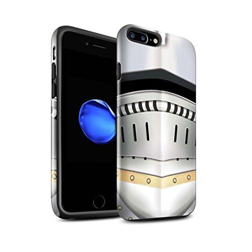 STUFF4 Glanz Harten Stoßfest Hülle / Case für Apple iPhone 7 Plus / Kreuzritter Helm Muster / Ritter Rüstung Kollektion Renaissance Helm