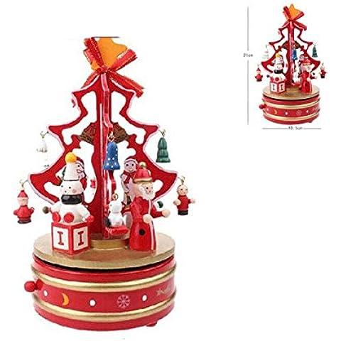Rubility® Caja de música creativa con un diseño de Navidad Juguete de Navidad Regalo ideal