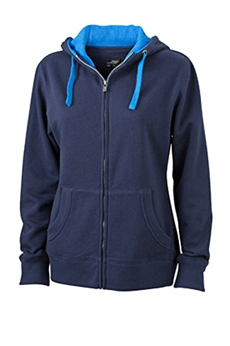 Ladies' Lifestyle Zip-Hoody Navy/Cobalt