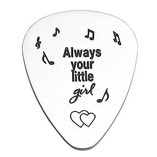 LParkin Always Your Little Girl Gitarre Plektrum Vater der Braut Geschenk Dad Geschenk Eltern Geschenk Hochzeit Tag Geschenk My Little Girl Geschenk