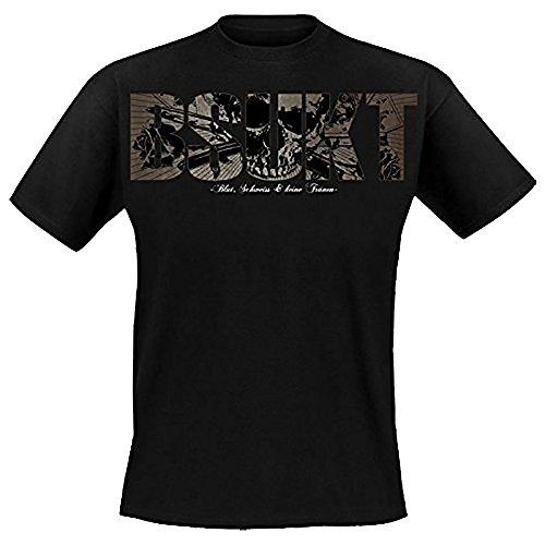Krawallbrüder - Blut Schweiss Und Keine Tränen T-Shirt mit Rückendruck, schwarz, Grösse XL (Blut Bekleidung)