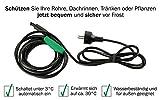 Cerres Frostschutz Heizkabel mit Knopf-Thermostat, 1m 2m 4m 8m 12m 14m 24m 36m 48m, 230V, Heizleitung Zum Schutz von Wasserleitungen oder Weidetränken (4m) - 3