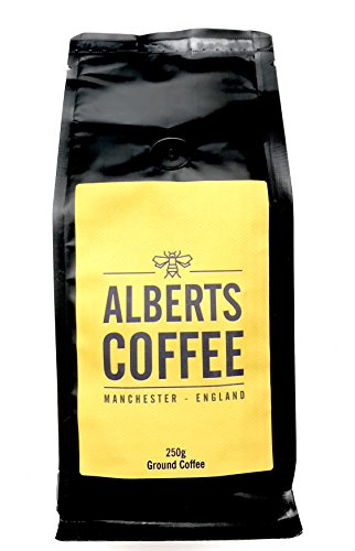 Alberts Arabica Ground Coffee, Medium Strength 4, Full Bodied Flavour, Roasted and Ground in Manchester 250g 41RSwXc6eTL