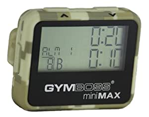 Gymboss miniMAX Interval Timer and Stopwatch - CAMOUFLAGE / TAN SOFTCOAT