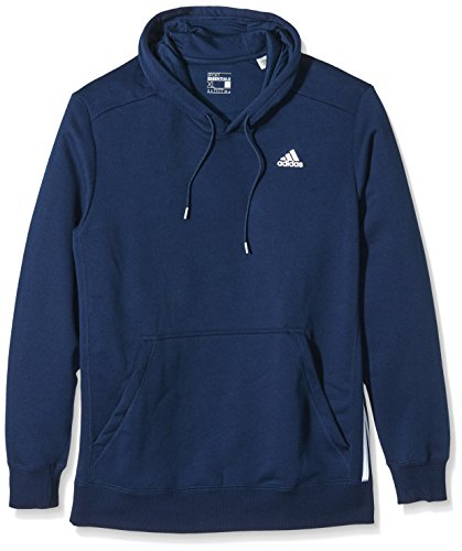 adidas Herren Kapuzen Pullover Essentials 3-Streifen Mid Fleece, Collegiate Navy, XL, AB6490 (Collegiate Kapuzen-pullover)