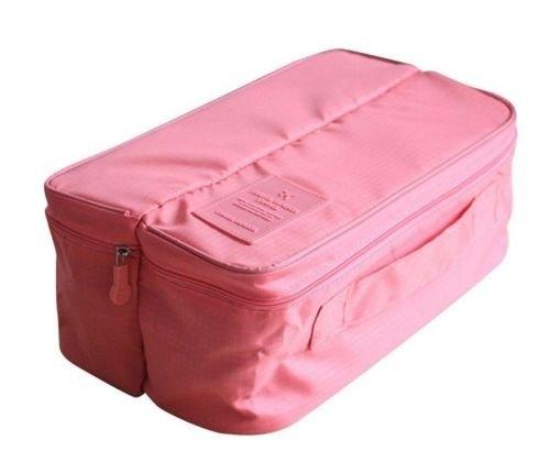 Ducomi® Exclusive - Beauty Case Unisex Organizzatore e Divisore con Manico per Intimo, Calzature, Scarpe, Cosmetici e Prodotti per Igiene - Dimensioni: 30 x 16 x 9 cm (Pink)