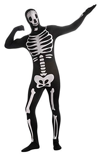 r Skeleton Skin Suit als Ganzkörperanzug mit Skelett Aufdruck L (Skelett Skin Suit)