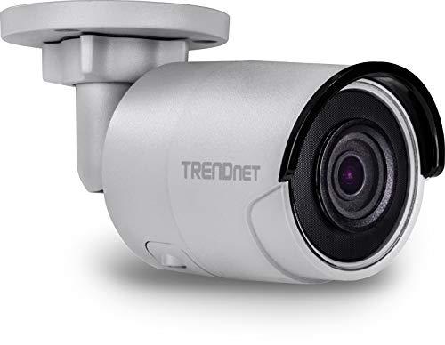 TRENDnet Indoor/ Outdoor 8MP 4K H.265 WDR PoE Bullet Netzwerk Kamera, Nachtsicht bis zu 30 M (98 ft.), Schutzklasse IP67, 120dB WDR, MicroSD Kartenslot, TV-IP318PI