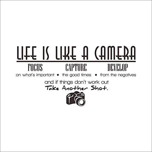 3D Wandaufkleber Das Leben Ist Wie Eine Kamera-Wand-Aufkleber-Abziehbild-Zitat-Vinylraum-Wand-Aufkleber-Dekor - Kamera Eine Leben Ist Wie Das