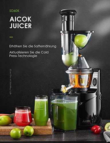 Gemüse & Obst Slow Juicer Aicok Entsafter kaufen  Bild 1*