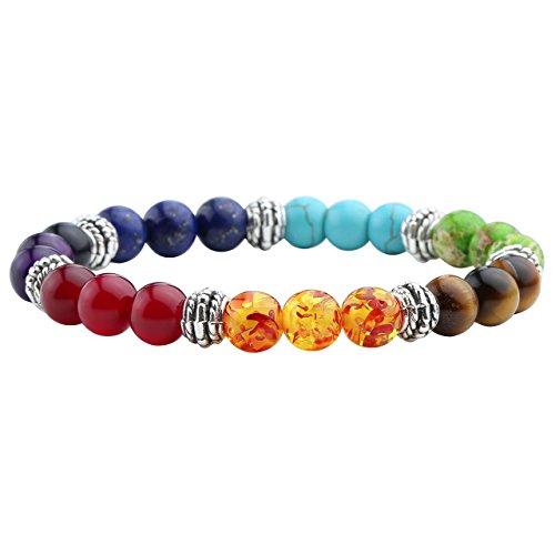 JSDDE, braccialetto unisex Yoga 7 Chakra, elastico