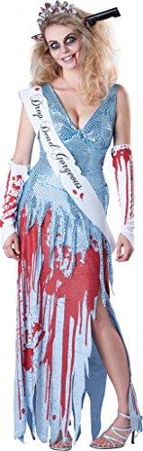 Donna 5pezzi + coltello reginetta zombie high school girl tiara costume halloween outfit uk 8–18