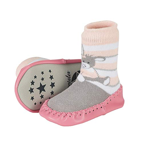 Sterntaler Baby Mädchen Hüttenschuh Emmi Girl Hausschuhe Pink (Zartrosa 707) 24 EU
