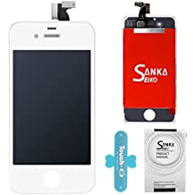 SANKA LCD Pantalla Táctil con Marco de Digitalización Asamblea Pantalla de Recambio para iPhone 4S - Blanco