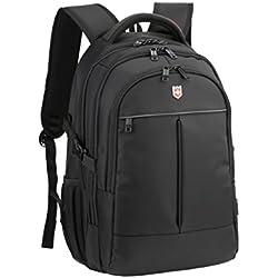Ruigor RG6187 – großer multifunktionaler Rucksack Tagesrucksack 30l Wasserdichter Laptop Tasche 15 Zoll schwarzer Sportrucksack für Damen und Herren