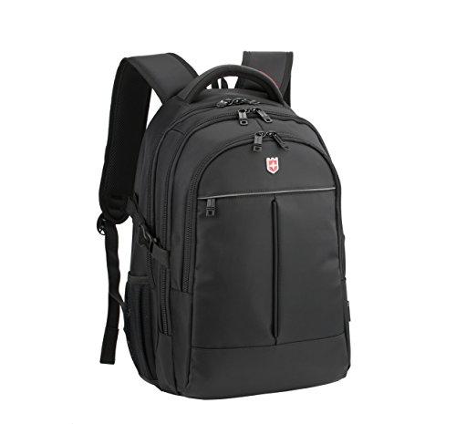 Ruigor RG6187 – großer multifunktionaler Rucksack Tagesrucksack 30l Wasserdichter Laptop Tasche 15 Zoll schwarzer Sportrucksack für Damen und Herren (Damen-schulter-laptop-tasche)