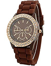 JIYA Enterprise Stylish Designer Latest Rubbar Belt Watches For Woman And Girls Analog Watch - For Girls RE-W570