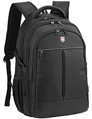 d3bcc14a7786b Ruigor ICON 87 – großer multifunktionaler Rucksack Tagesrucksack 30l  Wasserdichter Laptop Tasche 15 Zoll schwarzer Sportrucksack