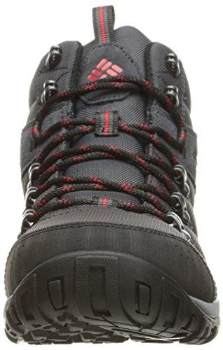 Columbia Peakfreak Venture Mid Lt, Chaussures de Randonnée Hautes Homme Gris (Shark, Mountain Red 011)