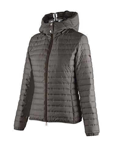 Animo Reitjacke Damen, leichte Jacke mit Kapuze, Modell Lode, Grau Größe 34