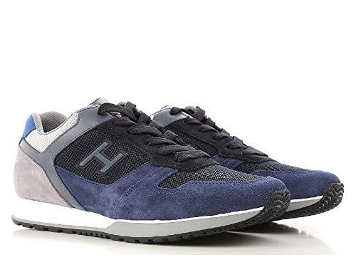 Hogan Sneakers Basse Uomo in Pelle Scamosciata Blu - Codice Modello   HXM3210Y861I7J785K - Taglia  eb3e3126aed